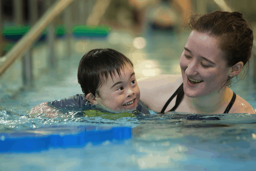 Swimming lessons for special needs children poolmax pool builder for Swimming pool lessons for kids