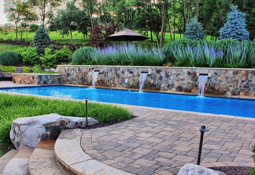 Concrete Water Fountain Pools : Types and uses of pool retaining walls poolmax builder